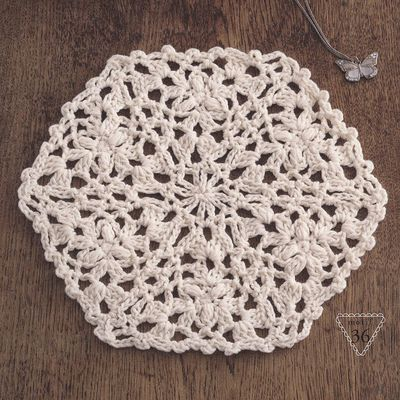 Hexagones au crochet