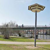 Im Vorgriff auf den Abriss des Mainsteges: Zwei Schwalbenhäuser für die Mehlschwalben als Ersatznistmöglichkeit errichtet. - Veitshöchheim News