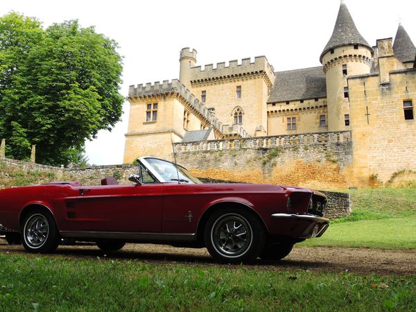 Ford Mustang cabriolet rallye du Cinéma 2014 Photo Virginie Rousselle