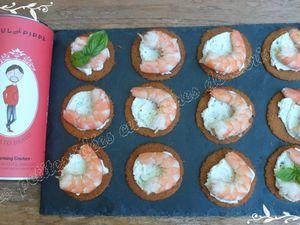 Toasts tomate / crevette