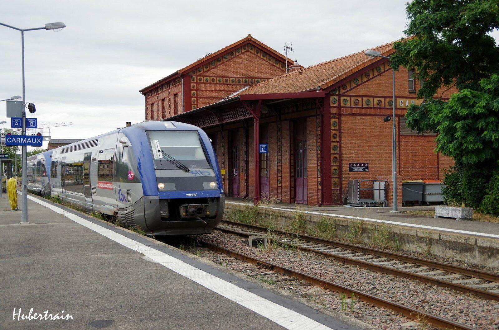 X73632 en gare de Carmaux (Tarn) - Août 2018