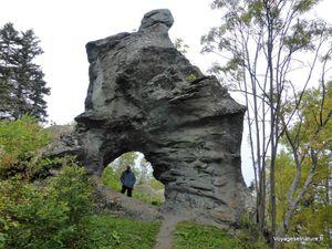 Le rocher canard et la roche aux fées vers le Cap-Madeleine