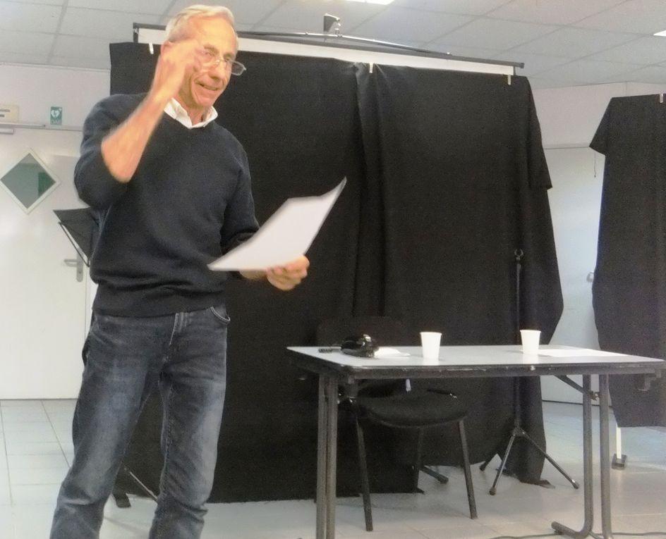 Outre la lecture spectacle, Alain VERRIEZ accompagnait Annie VAIRET pour chanter PIAF