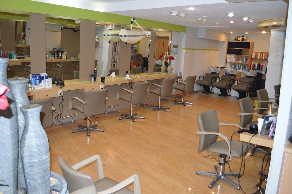 recouverture fauteuil de coiffure en simili galuchat et peinture ARABESQUE La decoration sur mesure THIERS Puy de Dome 63 TAPISSIER DECORATEUR fauteuil rideaux stores tissus