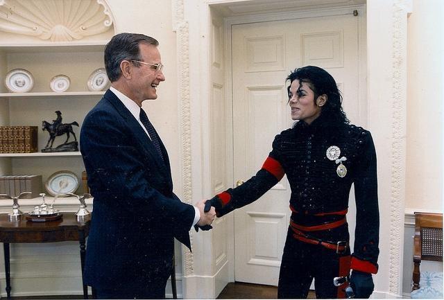 Michael Jackson et les présidents Américains