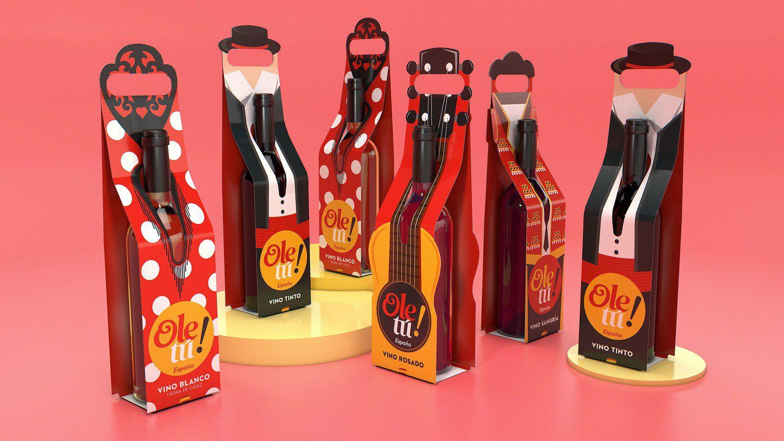 Ole tú - Ole tú negocios S.L. (spécialités espagnoles : vin, charcuterie, huile d'olive...) I Design : ALFONSO, Espagne (novembre 2020)