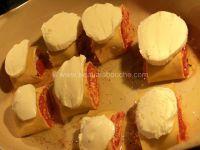 Petits Roulés de Lasagne au Jambon et à la Sauce Tomate
