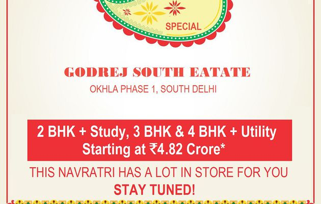 Biggest Festive offer in Godrej South Estate Okhla   Flash Dicount of Rs. 9 Lac on every unit