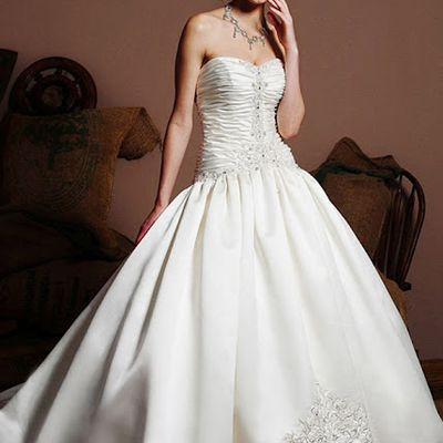 Hot Couture Satin Embroidered Wedding Dress