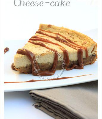 Cheese-cake acidulé au coulis de framboises (ou caramel)