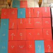 fabrication des lettres rugueuses - la classe de PS d'Emilie