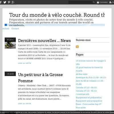 Tour du monde à vélo couché. Round the world on recumbents
