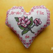 Cœur Valentin Jardin de Fille : face A - Chez Mamigoz