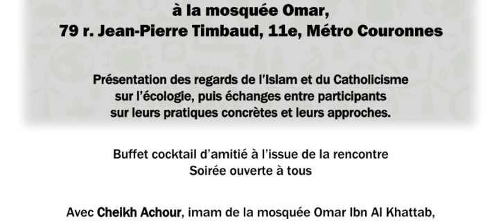 SERIC 2019 - 19 novembre 2019 - 75011 PARIS - Écologie : quelle est notre vision religieuse