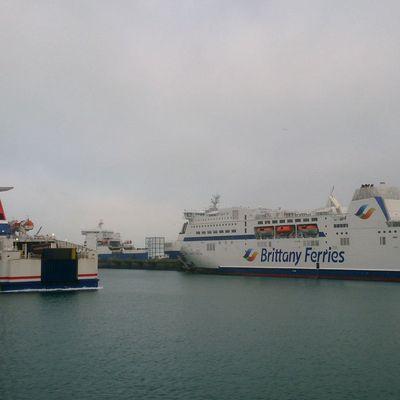 En images, les ferries de Stena en remplacement sur Cherbourg