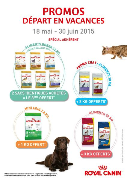 Promos croquettes Royal Canin.