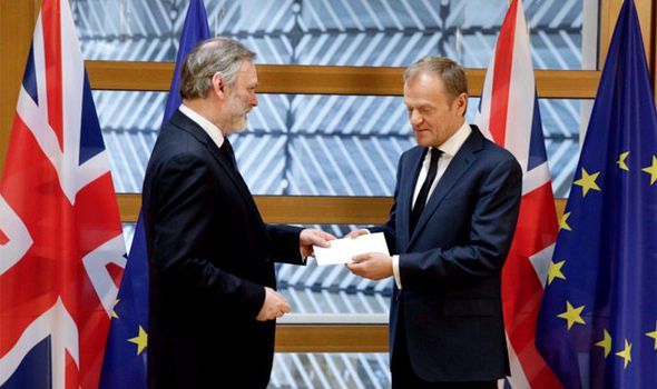 DELIVERED || Article 50 officially TRIGGERED as Sir Tim Barrow hands Donald Tusk Brexit letter