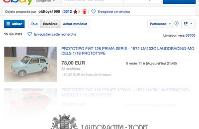 1/18 : Laudoracing vend ses prototypes aux enchères