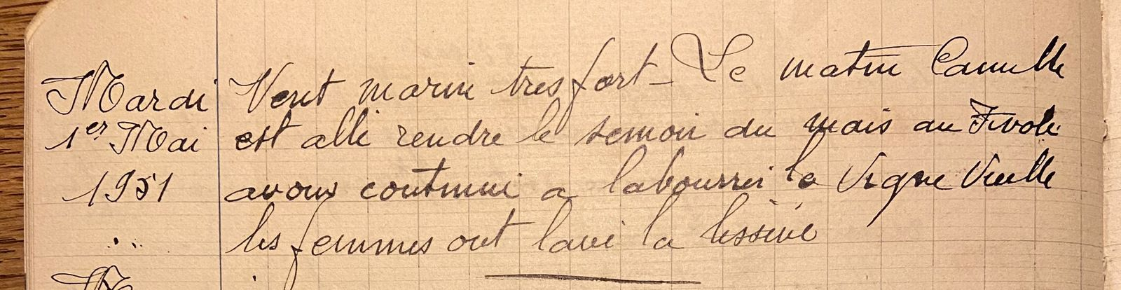 Mercredi 1er mai 1951 - le semoir à maïs