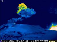 Etna - thermal webcam images INGV - RadioStudio7 and LAVE - one click to enlarge