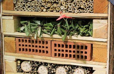 S'aménager un hôtel à insectes avec  des palettes