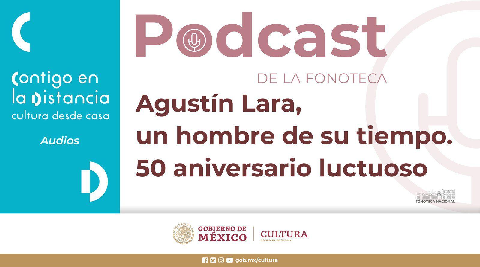"""À l'occasion du 50e anniversaire de la mort de l'éminent compositeur et interprète mexicain Agustín Lara, la Bibliothèque nationale de musique se souvient de lui à travers une sélection de fragments de son programme Intimate Moments produit par XEW entre 1955 et 1956, où le """"Flaco de Oro"""" des chansons racontaient comment il avait rencontré des personnalités telles que Esperanza Iris, Maurice Chevalier, Diego Rivera, entre autres."""