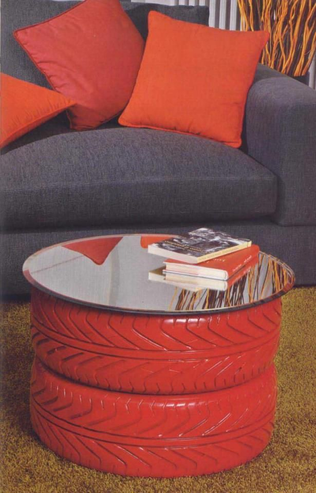 Recycled tireS ~ COFFEE TABLE