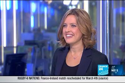 2012 04 14 @21H00 - LAURA BAINES, FRANCE 24, LIVE FROM PARIS