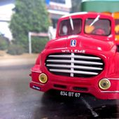 FASCICULE N°1 SEMI REMORQUE WILLEME LC 610T 1952 TRANSPORTS DU CERF SELESTAT 1/43 - car-collector