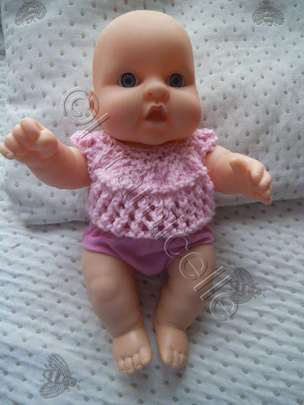 tuto gratuit poupée : un petit pull pour bébé-poupon