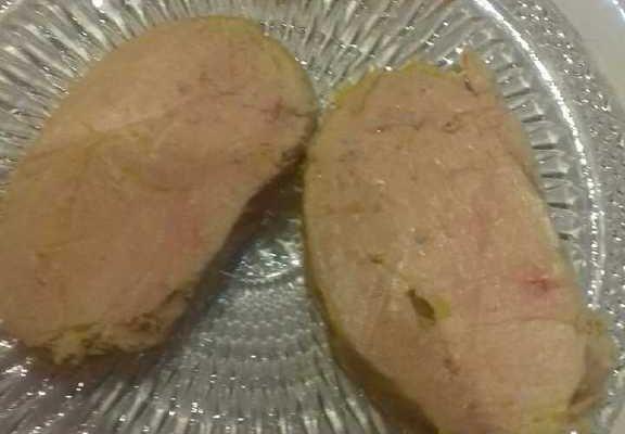 Foie gras de canard cuisson au bain marie