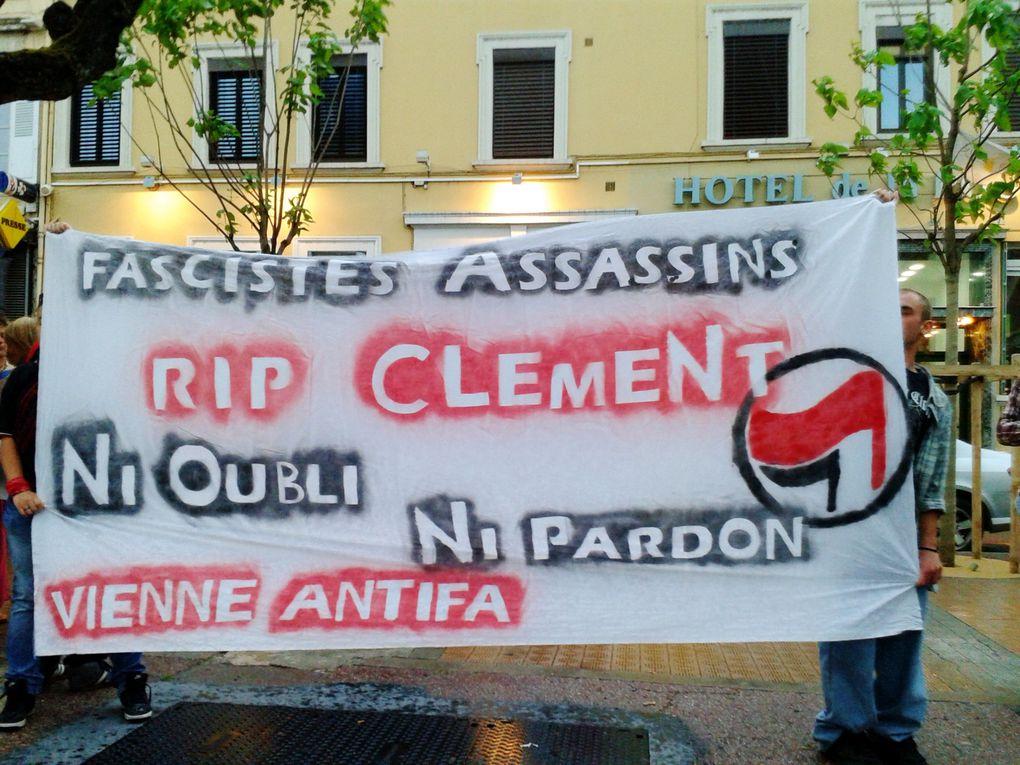 Rassemblement en hommage à Clément Méric à Vienne