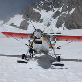 STOL Pilatus Porter landing on a glacier in New Zealand | HD