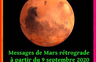 Mars rétrograde du 9 septembre 2020 au 13 novembre 2020
