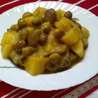 Tajine de pommes de terre aux olives
