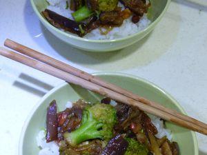 Aubergines sautées à la sauce soja (Laclac en Chine #1)