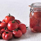 Recette Tomates entières au naturel - Le Parfait