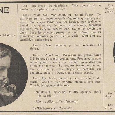 Au téléphone en 1909
