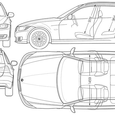 Blueprint of BMW 3series Touring 2011