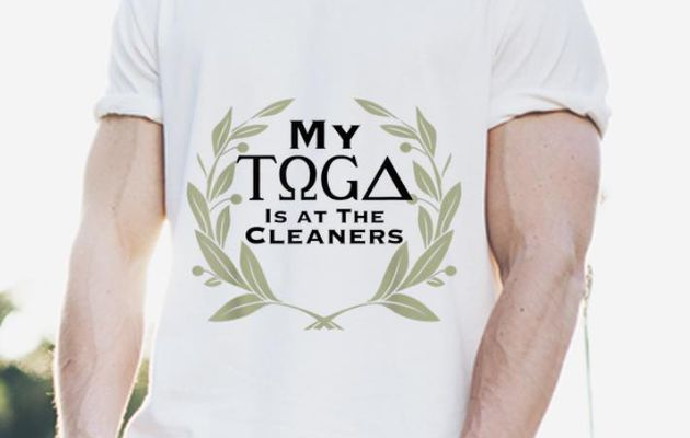 Top My Toga Is At The Cleaners shirt