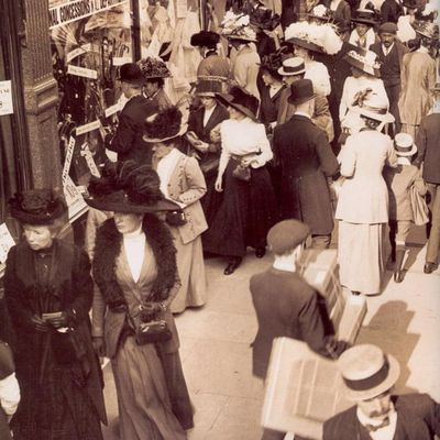Shopping à Londres , printemps 1914....