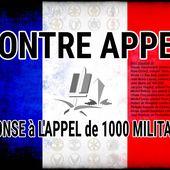 RÉPONSE à L'APPEL DE MILLE MILITAIRES - par le Contre Amiral Claude GAUCHERAND
