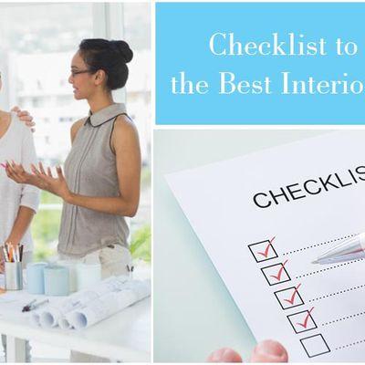 Checklist to Choose the Best Interior Designer