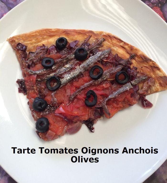 Tarte Tomates Oignons Anchois Olives