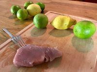 Ingrédients pour réaliser un tartare de thon