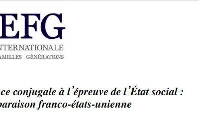 """La violence conjugale à l'épreuve de l'État social : une comparaison franco-états-unienne"""""""