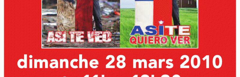 Séisme Chili - Journée du 28 Mars à Aulnay sous Bois