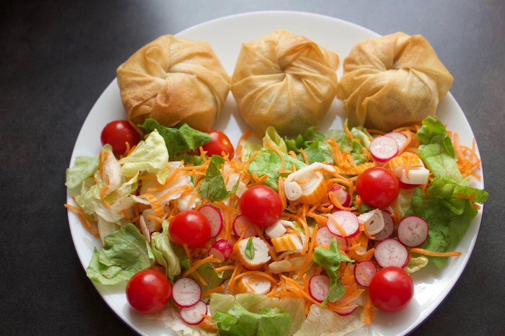 Pastilla aux légumes et viande haché