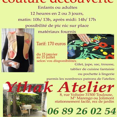 """Pack cadeau: stage """"couture découverte"""" en Ythak"""