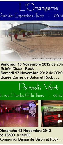 Week-end Disco - Rock & Danses de Salon - L'orangerie et Le Paradis Vert